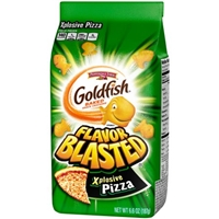 Pepperidge Farm Goldfish Flavor Blasted Xplosive Pizza Baked Snack Crackers Food Product Image