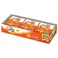 Pepperidge Farm Goldfish Cheddar Baked Snack Crackers 9 Pack Food Product Image