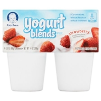 Gerber Simply Strawberry Yogurt Blends - 4Ct Food Product Image