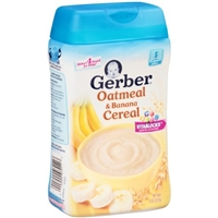 Gerber Oatmeal & Banana Cereal Food Product Image