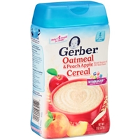 Gerber Oatmeal & Peach Apple Cereal Food Product Image