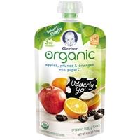 Gerber 3rd Foods Organic Apples, Prunes & Oranges with Yogurt Food Product Image
