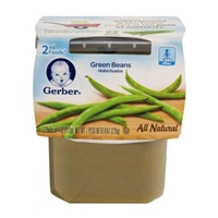 Gerber Green Beans 2nd Foods Food Product Image