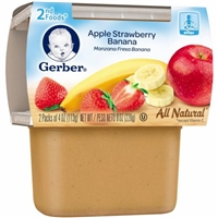 Gerber Apple Strawberry Banana 2nd Foods Food Product Image