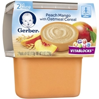 Gerber 2nd Foods Peach Mango with Oatmeal Cereal Food Product Image