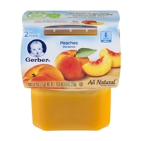 Gerber 2nd Foods Peaches - 2 CT Food Product Image