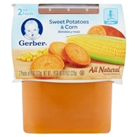 Gerber Sweet Potatoes & Corn 2nd Foods Food Product Image