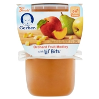 Gerber Orchard Fruit Medley with Lil' Bits 3rd Foods Food Product Image
