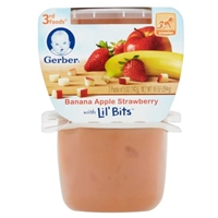 Gerber Banana Apple Strawberry with Lil' Bits 3rd Foods Food Product Image
