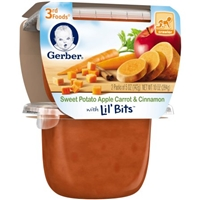 Gerber 3rd Foods Sweet Potato Apple Carrot & Cinnamon With Lil' Bits - 2 CT Food Product Image