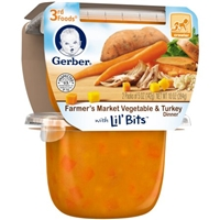 Gerber 3rd Foods Farmer's Market Vegetable & Turkey Dinner with Lil' Bits - 2 CT Food Product Image