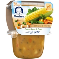 Gerber 3rd Food Carrots Peas & Corn Lil' Bits Food Product Image