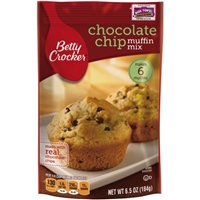 Betty Crocker Chocolate Chip Muffin Mix Food Product Image
