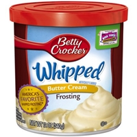Betty Crocker Whipped Butter Cream Frosting Food Product Image