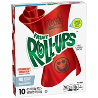 Betty Crocker Fruit Roll-Ups Strawberry - 10 CT Food Product Image