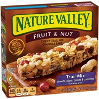 Nature Valley 100% Natural Fruit & Nut Chewy Trail Mix Bars Food Product Image