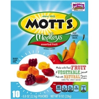 Mott's Medleys Fruit Flavored Snacks Assorted Fruit - 10 Ct Food Product Image