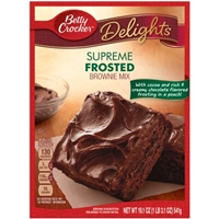 Betty Crocker Delights Brownie Mix Supreme Frosted Food Product Image