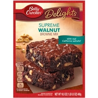 Betty Crocker Walnut with Hershey's Premium Brownie Mix Food Product Image