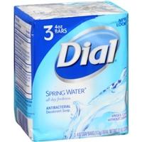 Dial Soap Antibacterial Deodorant Soap Bars Spring Water - 3 CT Food Product Image