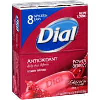 Dial AntiOxidant Glycerin Soap Bars - 8 CT Food Product Image