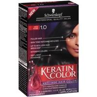Schwarzkopf Keratin Color Permanent Anti-Age Hair Color 1.0 Onyx Black Food Product Image