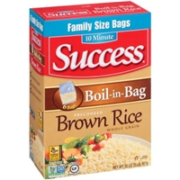 Success Boil-in-Bag Whole Grain Brown Rice - 6 CT Food Product Image