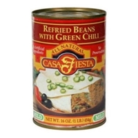 Casa Fiesta Refried Beans With Green Chili Mild Food Product Image
