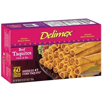 Delimex Taquitos Corn, Beef Food Product Image