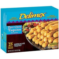 Delimex Three Cheese Taquitos Food Product Image