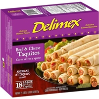Delimex Beef and Cheese Flour Taquitos Food Product Image