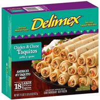 Delimex Chicken and Cheese Flour Taquitos Food Product Image