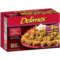Delimex Taquitos Beef Shredded Food Product Image