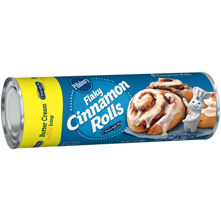 Pillsbury Flaky Cinnamon Rolls with Butter Cream Icing - 8 Ct Food Product Image
