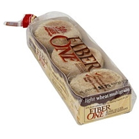 Fiber One English Muffins Pre-Sliced, Light Wheat Multigrain Food Product Image