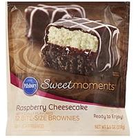 Pillsbury Brownies Raspberry Cheesecake, Bite-Size Food Product Image