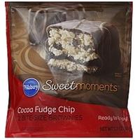 Pillsbury Brownies Bite-Size, Cocoa Fudge Chip Food Product Image