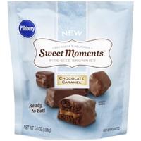 Pillsbury Brownies Bite-Size, Chocolate Caramel Food Product Image