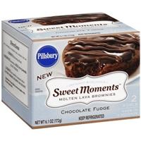 Pillsbury Brownies Molten Lava, Chocolate Fudge Food Product Image