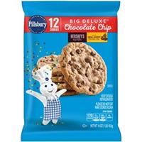Pillsbury Big Deluxe Hershey's Kisses Big Cookies Chocolate Chip - 12 CT Product Image