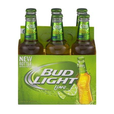 Bud Light Lime Beer 6 PK Bottles Food Product Image