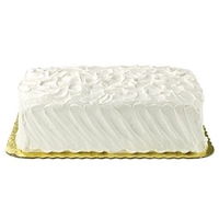 Wegmans Frozen Cakes & Pies 1/4 Sheet Ultimate White Cake With Vanilla Buttercreme Food Product Image