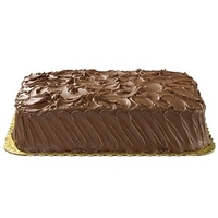 Wegmans Frozen Cakes & Pies 1/4 Sheet, Ultimate White Cake With Ultimate Chocolate Icing Food Product Image