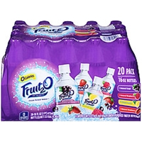 Fruit 2 O Purified Water Beverage Variety Pack Natural Grape/Raspberry/Lemon/Strawberry Food Product Image