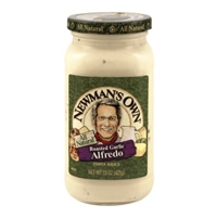 Newman's Own All Natural Roasted Garlic Alfredo Pasta Sauce Food Product Image