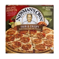 Newman's Own Thin & Crispy Uncured Pepperoni Pizza Food Product Image