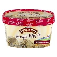 Turkey Hill Fudge Ripple Premium Ice Cream Food Product Image