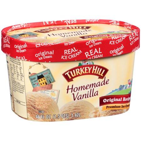 Turkey Hill Homemade Vanilla Premium Ice Cream Food Product Image