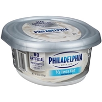 Philadelphia Cream Cheese 1/3 Less Fat Food Product Image