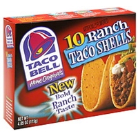 Taco Bell Taco Shells Ranch Food Product Image